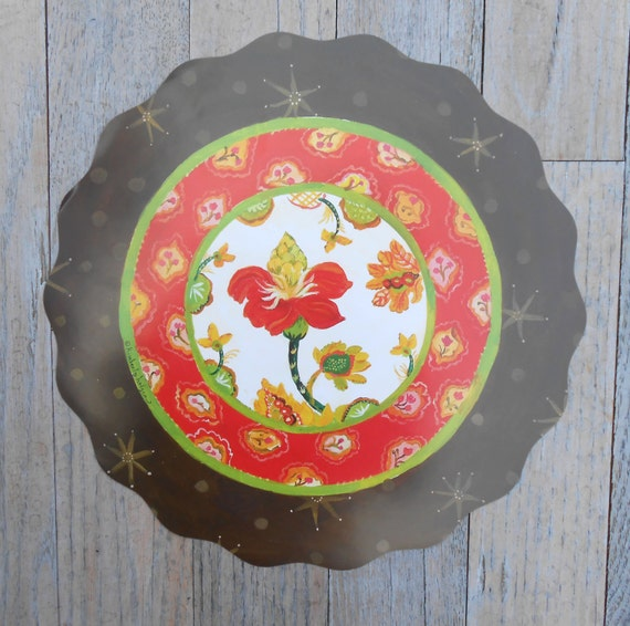 25 Nasturtium Stars Paper Placemats by Kimberly Hodges, reversible placemats, round placemats, holiday placemat