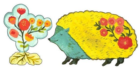Hedgehog vinyl decal by Kimberly Hodges, hedgehog sticker, hedgehog decal, yeti cup decal, hedgehog vinyl decal, yeti decal ideas