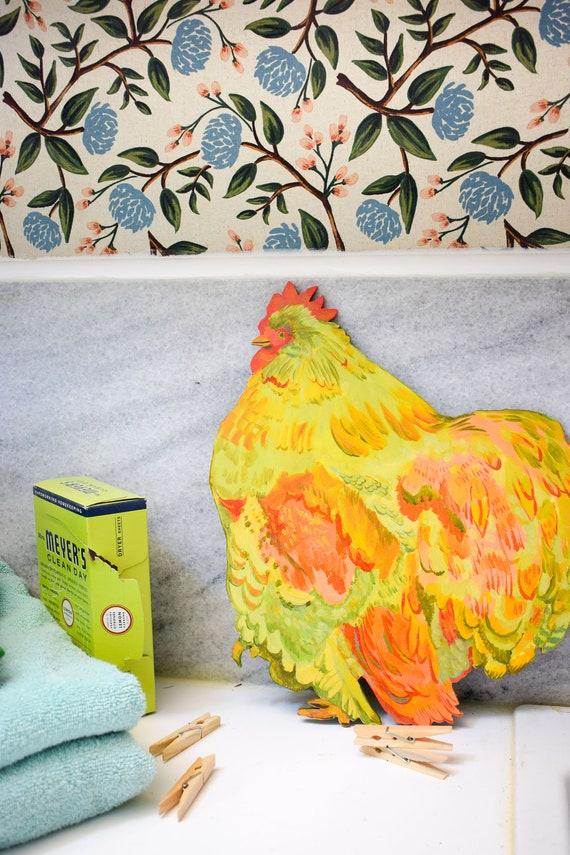 Cochin chicken, chicken ornament, chicken decor, chicken coop signs, chicken sign, chickens, backyard chickens, chicken wood sign