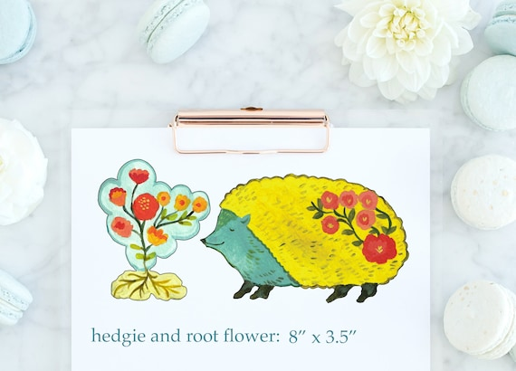 Hedgehog vinyl decal by Kimberly Hodges, hedgehog sticker, hedgehog decal, yeti cup decal, hedgehog vinyl decal, yeti decal ideas