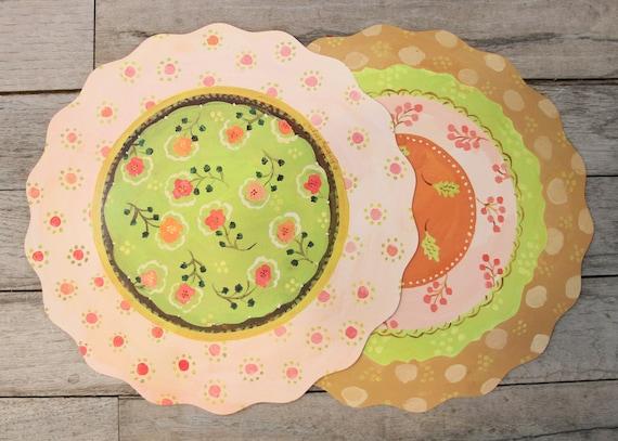 36 Clementine Paper Placemats, paper placemats, round placemats, placemat, placemats, wedding placemats, disposable placemats