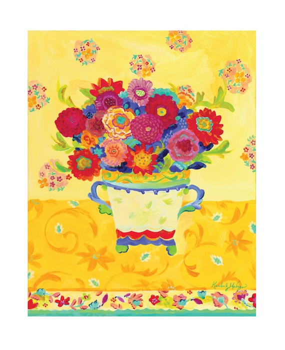 Nasturtium Yellow Fine Art Giclee Canvas Print by Kimberly Hodges, 11 x 14, 16 x 20