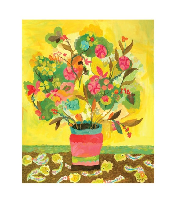 Yellow Madrigal Giclee Canvas Print by Kimberly Hodges, 11 x 14, 16 x 20, 24 x 30