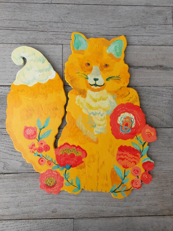 Wood fox sign by Kimberly Hodges, baby fox sign, fox print, fox painting, fox lover gifts, fox nursery sign fox gift for her, wood fox decor
