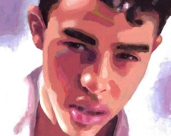 Idol, Original Acrylic Portrait on Canvas