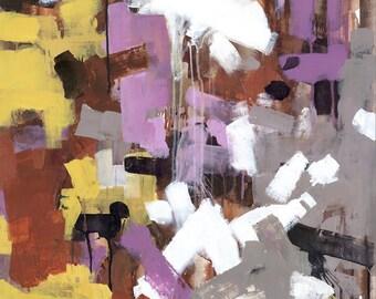 Flight, 23x33 Original Abstract Acrylic Painting on Canvas