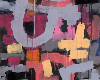 Carnaval, Abstract, Original Acrylic Painting on Canvas