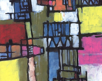 Modern Times, Abstract, Original Acrylic Painting on Canvas