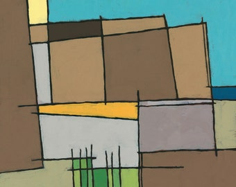 Landscape, Abstract, Original Acrylic Painting on Canvas