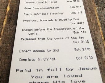 Kelal Bookmark - receipt format showing what has been paid for already