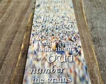Beach Sand Bookmark with Psalm 139: 17-18