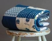 "100% organic cotton baby quilt - crib quilt size 40"" x 42"""