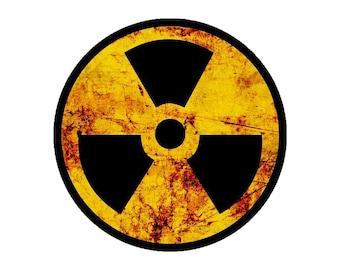 Tchernobyl 15 cm russe Radiation Logo Symbole Rouge et Noir Autocollant Vinyle Autocollant
