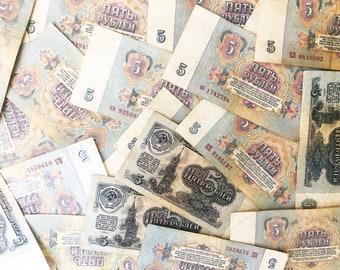 Russia 1995-1997 set of 8 banknotes bonus 4 pcs 1961!!!