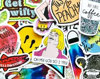 50 Random Sticker Pack For Laptop Book Decoration Stickers