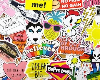 100 Sticker Pack Cool Animals Art Design Decals For Laptop Skateboard Car Bumper #CA