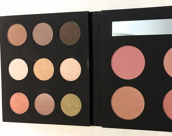 ORGANIC FACE PALETTE Mineral Makeup - Natural Eye Shadow and Cheek Color - Eco Friendly Palette - Gluten Free Vegan
