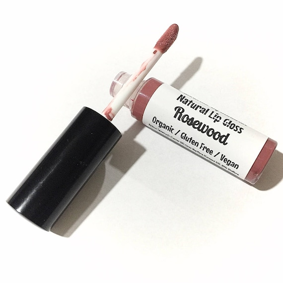 ROSEWOOD Natural Organic Lip Gloss - Gluten Free Vegan Makeup - Botanical  Plant Infused Lip Glaze