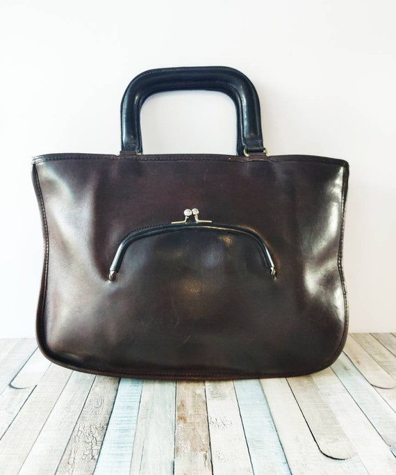 Authentic COACH Bonnie Cashin brown Genuine Leath… - image 2