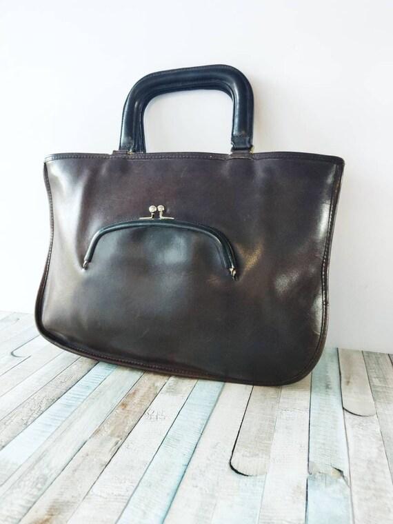 Authentic COACH Bonnie Cashin brown Genuine Leath… - image 1