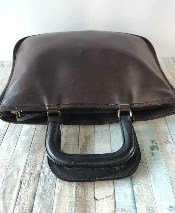 Authentic COACH Bonnie Cashin brown Genuine Leath… - image 3