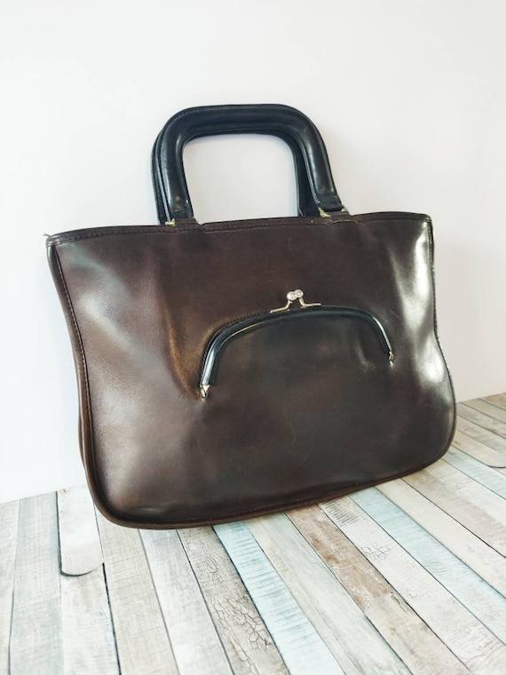 Authentic COACH Bonnie Cashin brown Genuine Leath… - image 6
