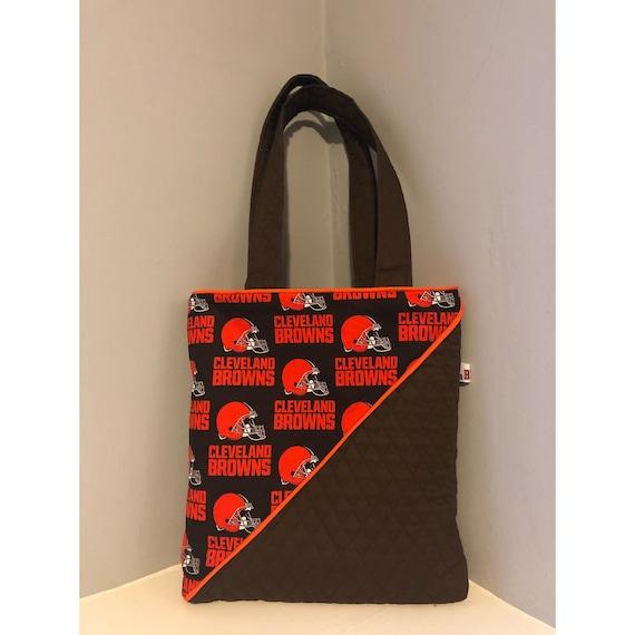 Handmade NFL Cleveland Browns Tote Purse Bag