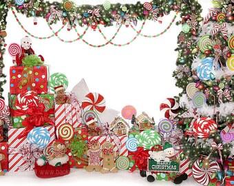 Christmas Candyland Backdrop.Candyland Background Etsy
