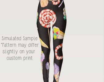 294fe1da6f29a Lollipop, Ice Cream, Cupcake, Candy Cane, Watermelon Leggings, Yoga, Icing,  Workout, Exercise, Orange, Sweets, Desert, Baker XS-XL-Junk2
