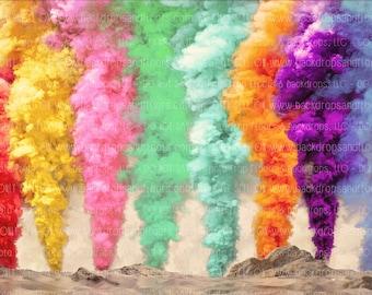 Rainbow smoke bombs   Etsy
