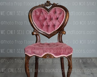 DIGITAL DOWNLOAD: Backdrop, Background, Vintage Tufted Velvet Heart Shaped  Chair, Love, Valentines, Composite, Children, Newborn Photography