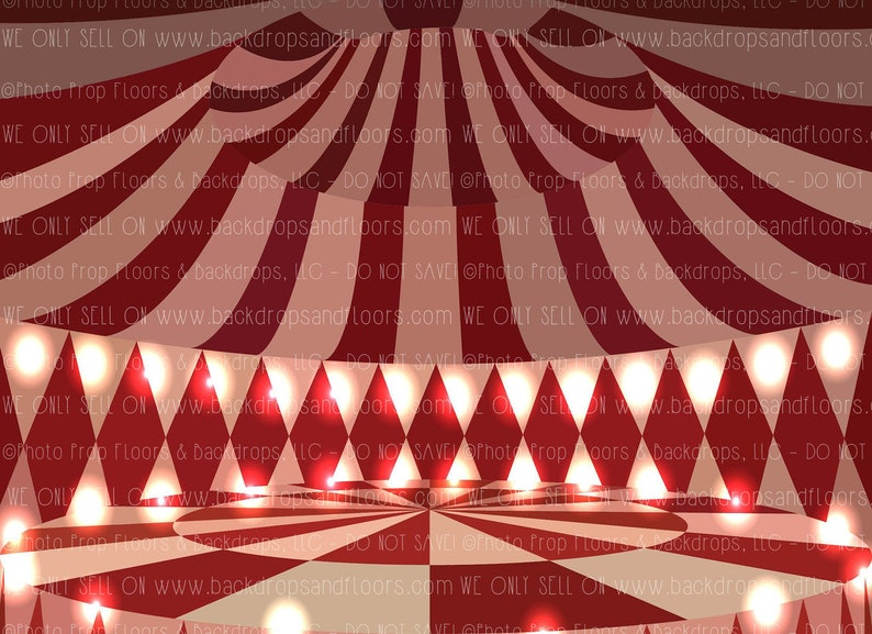 b0edb5fc9 Red and White Circus Tent Photography Backdrop Big Top