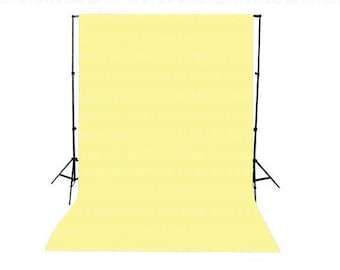 Lemon Cream Solid Color Seamless Matte Finish Fabric Photography Backdrop, Wedding, Photo Booth, Party, Shower, Non-reflective background
