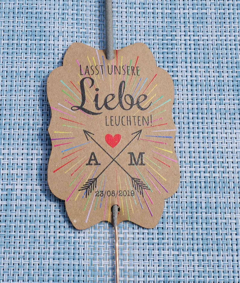 10 Personalised Miracle Candle holder pendant with Arrow and Sparks