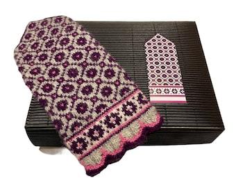 Knitting Kit Knit like a Latvian Mitten Pearl Gray Nr.4