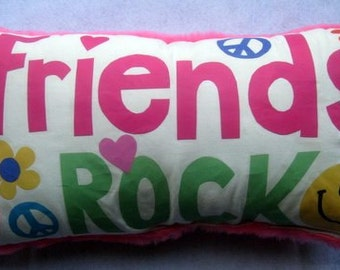 Friends Rock autograph pillow