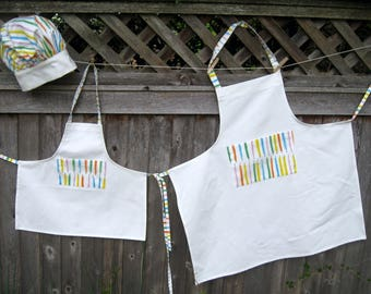 Mother/Daughter matching Aprons and Chef hats
