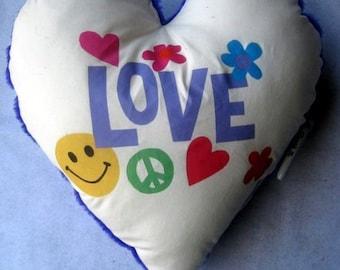 """large heart 'Love""""  autograph pillow"""
