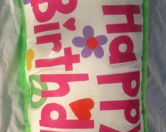 Happy Birthday Autograph pillow