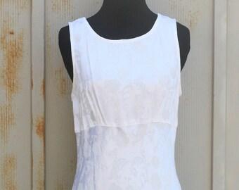 White Maxi Dress - Vintage Floral Dress - 90s Dress - All That Jazz Dress - Sundress - Summer Dress - Sleevless Dress - 1990s Dress - Grunge