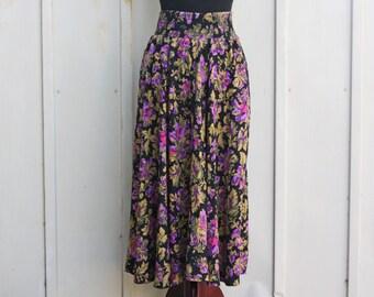 84324bc3b3 90s Grunge Skirt - 1990s Floral Skirt - Elastic Waist Skirt - Pastel Goth  Skirt - Vinatge Flare Skirt - Skater Skirt - Flower Print Skirt