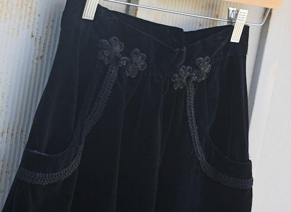 90s Skirt Gothic Maxi Inch Swing Skirt Skirt 23 Skirt Grunge 80s Velveteen 1980s Skirt Black Lolita Skirt Velvet Skirt Waist gSOUAx4n