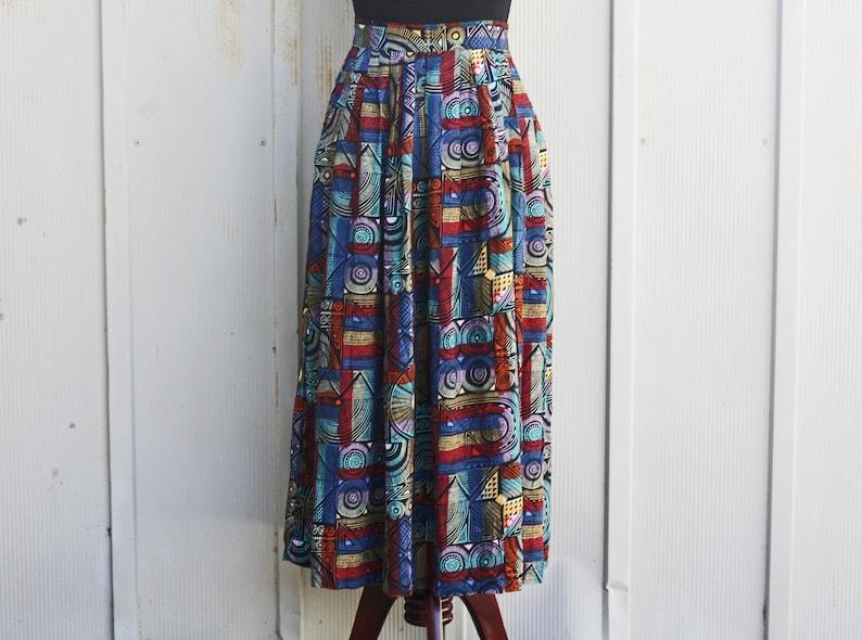 5435b2995c Flowy Abstract Skirt Extra Small Grunge Skirt High Waist | Etsy