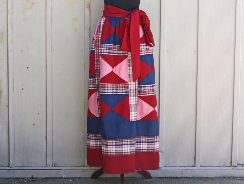 a77440a36b Vintage Patchwork Skirt 70s Maxi Skirt Retro Geometric | Etsy