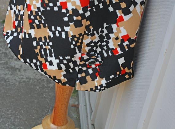 Dress Button Twiggy Dress Polyester 1960s Mod Scooter Retro Dress Dress Shift 60s Dress Down Dress Vintage Dress Geometric 1gZpxAqwg