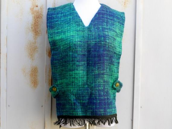 1960s Handmade Scottish Wool Vest - Vintage Bib Ve