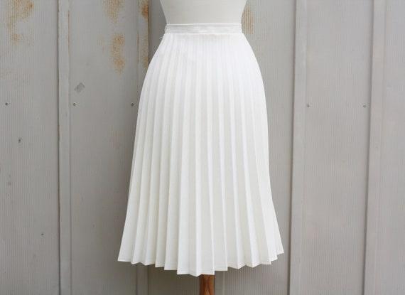 Skirt Skirt Skirt 70s Rockabilly Accordion Skirt Pleated Skirt Pleat Skirt Skirt Preppy Circle Mod Tennis White Skirt Hipster pnqRwxnZ