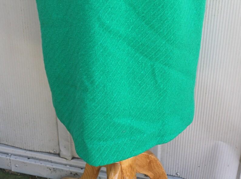 be19d99f6 Kelly Green Wool Skirt 60s Skirt Pencil Skirt 1960s | Etsy