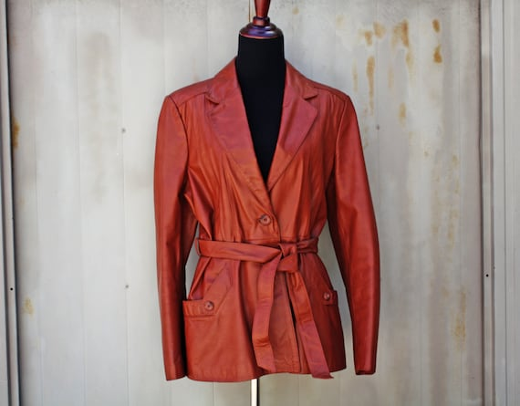 Brown Leather Coat - 70s Wilson's Leather Jacket f