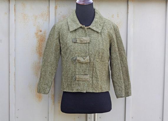 Vintage 50s jacket  Pin up  Retro  Vintage  1950s  crop jacket  Vintage jacket  50s cropped jacket  Coat 1950s   Vintage 50s fur